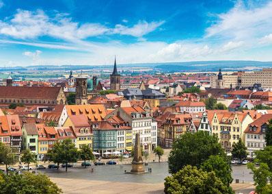 Stadtbild von Erfurt*