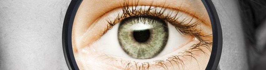 Auge mit Brillenglas
