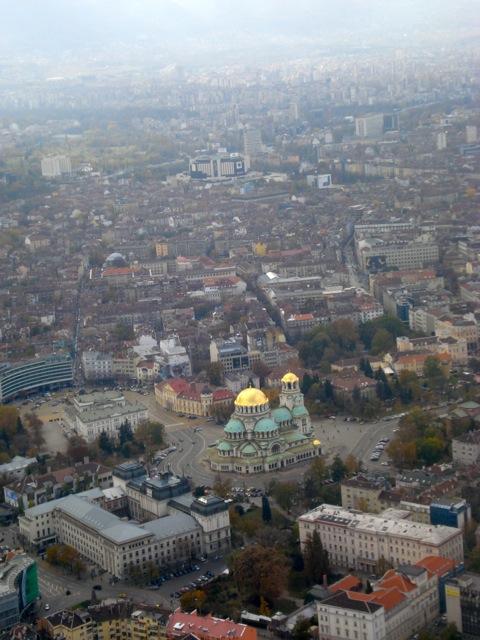 Luftaufnahme des Stadtzentrums von Sofia*