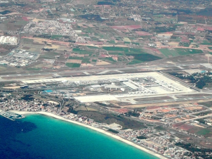 Flughafen Son Sant Joan/Mallorca.