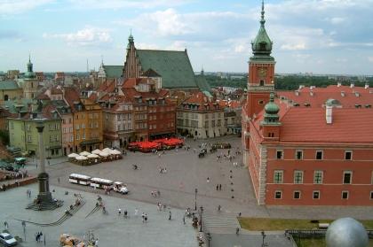 Schlossplatz in Warschau*