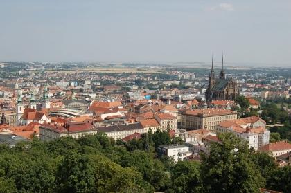 Blick auf Brünn* von der Festung Špilberk